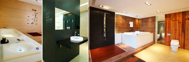 Hình ảnh trưng bày bồn tắm, bồn cầu tại Showroom HCM