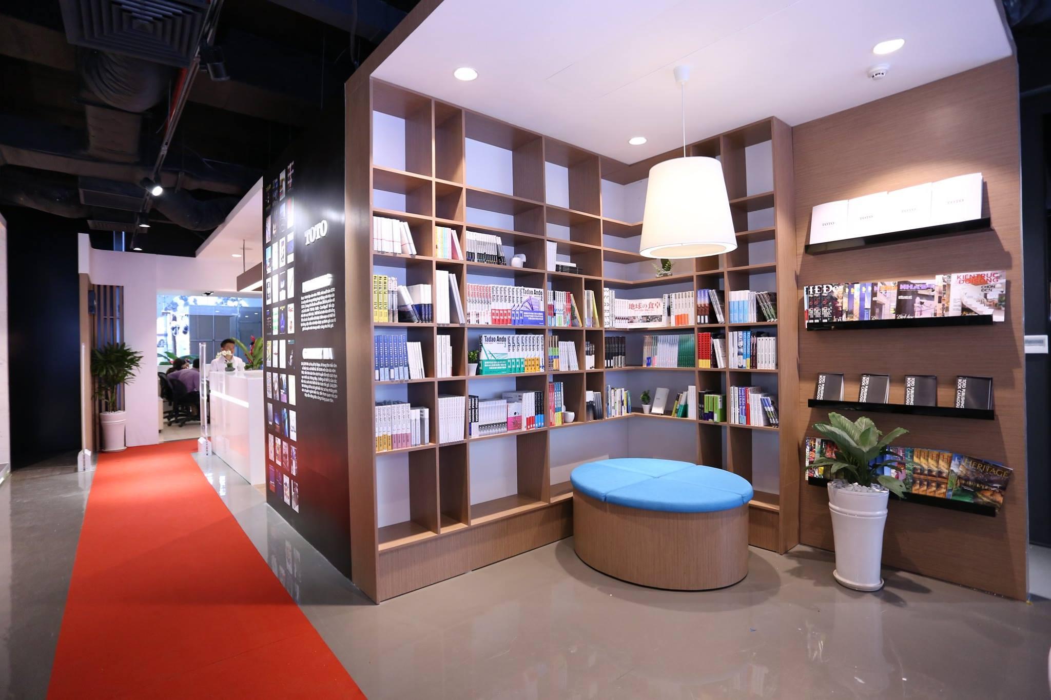 Góc Trung tâm Thông tin TOTO - Thư viện kiến trúc cho các bạn sinh viên giao lưu và tham khảo