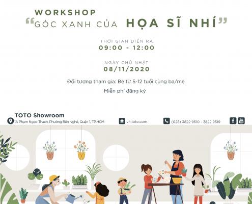 workshop goc xanh hoa si nhi