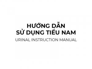Urinal instruction manual