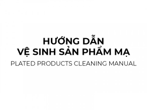 Plated products cleaning manual